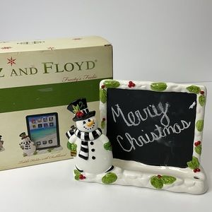 FITZ AND FLOYD tablet holder and chalkboard